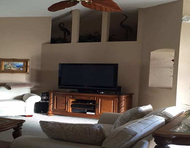 Living Room - Flat Screen TV with Home Theater