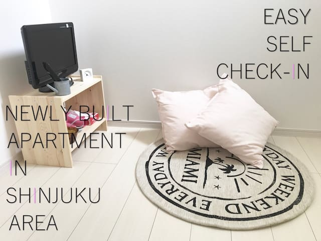 ☆5 mins to SHINJUKU studio w/Loft #1A FREE WIFI