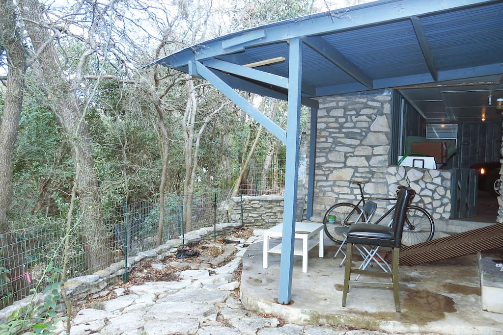 Enjoy your PRIVATE patio with running creek just steps away.