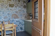 The entrance to the kitchen.