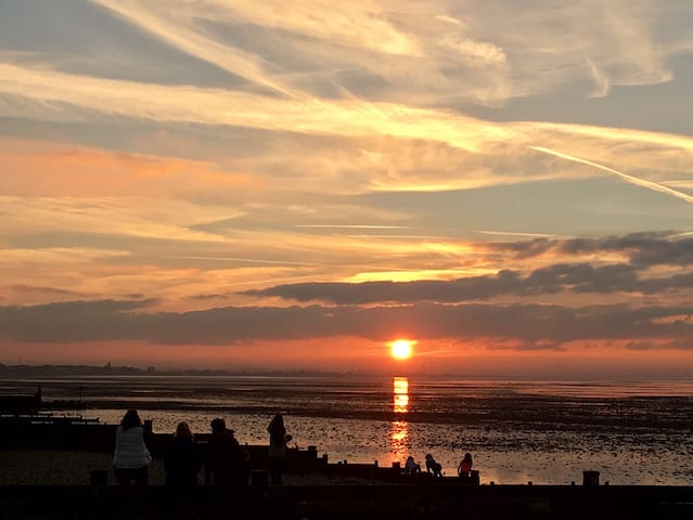 Another beautiful sunset on whitstable beach
