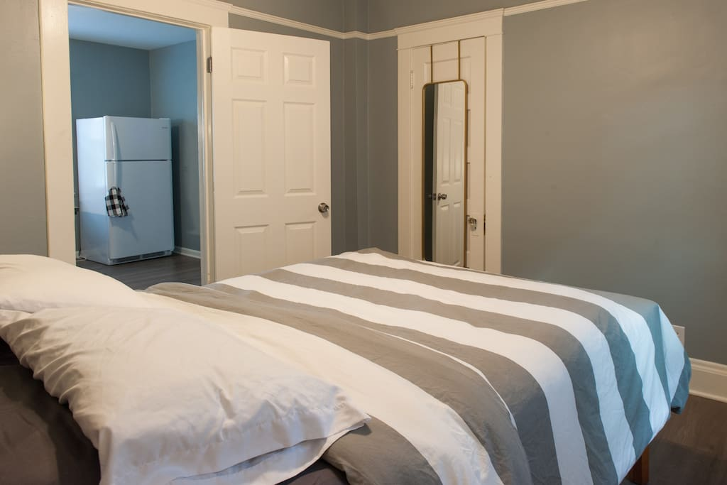 Full length mirrors and plenty of closet space in both bedrooms!