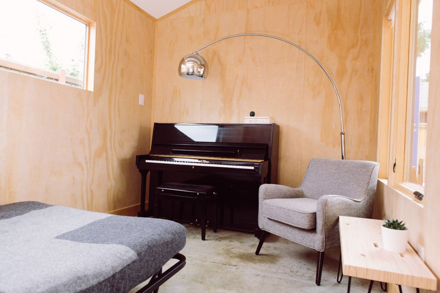 Beautiful natural light.  When not on AirBNB, I teach piano in the Studio.