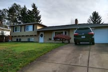 Updated 1960's split-level house with large yard.