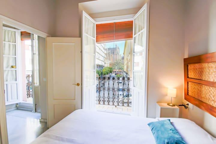 Apartamento 1 dormitorio con VISTA A LA CATEDRAL