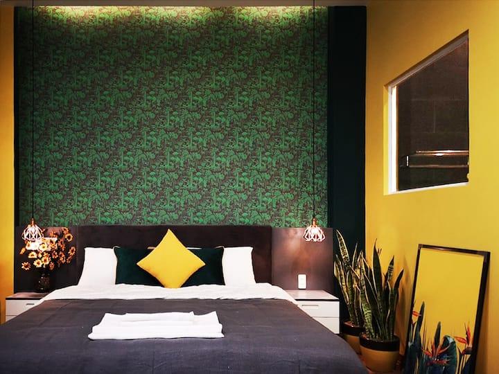 201-Deluxe King Room-near Dragon Bridge&Han River