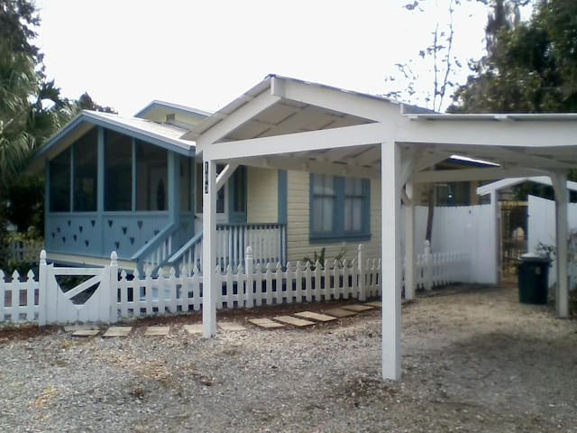 Charming Cottage downtown Micanopy - Micanopy - Bungalow