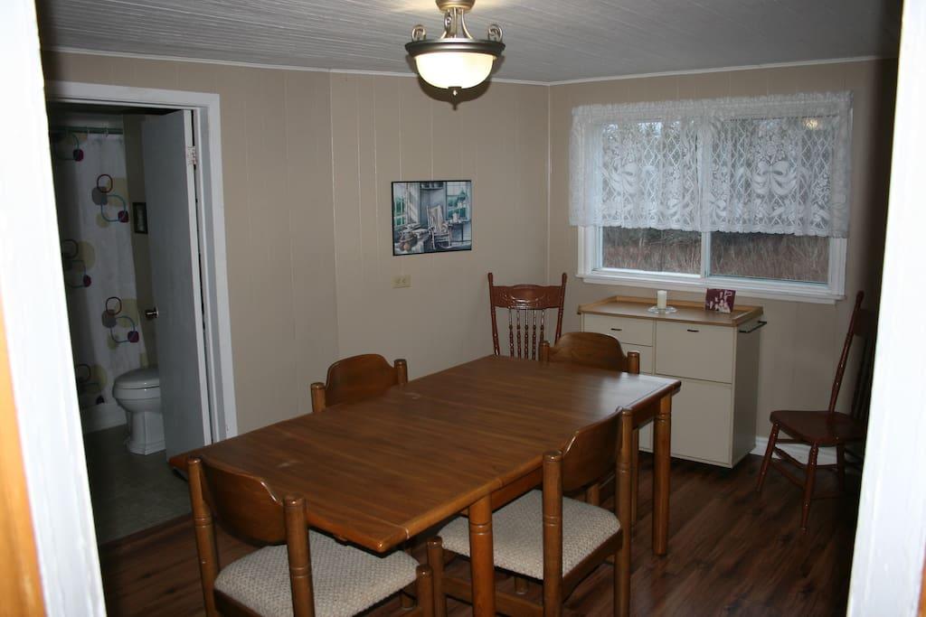 Dining room, full bathroom on the main floor