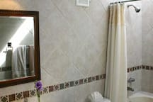 Our Guest room bath. There are 2 Beautiful bathrooms. One per bedroom.