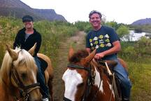 Owners Sue & Paul horseback riding in the town near to oue villa. There is also horseback riding on the beach at Playa La Mision which is right down the road.