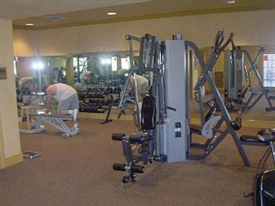 exercise center in clubhouse