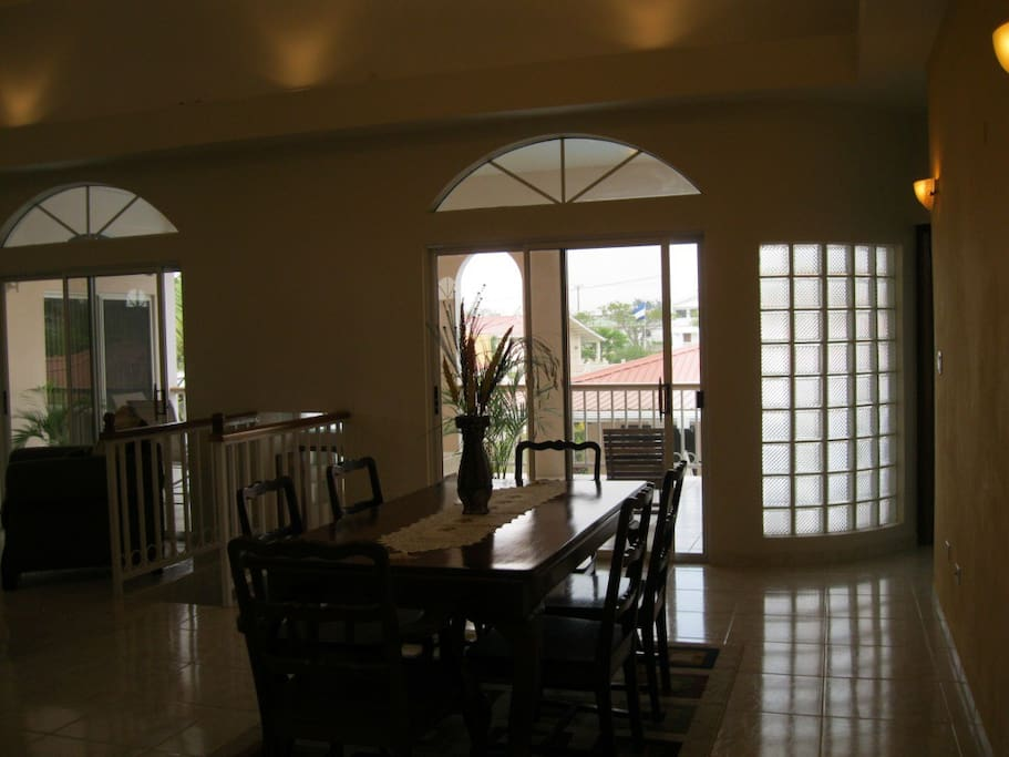 View to covered porch from Dining room