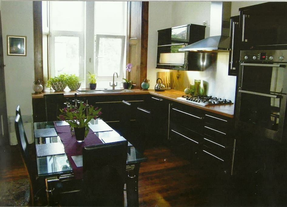 Dining Kitchen. Full Range of Bosch Appliances and well stocked Larder.