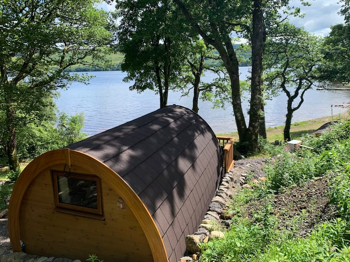 Loch Awe Camping Pod 3 with Mountain and Loch View