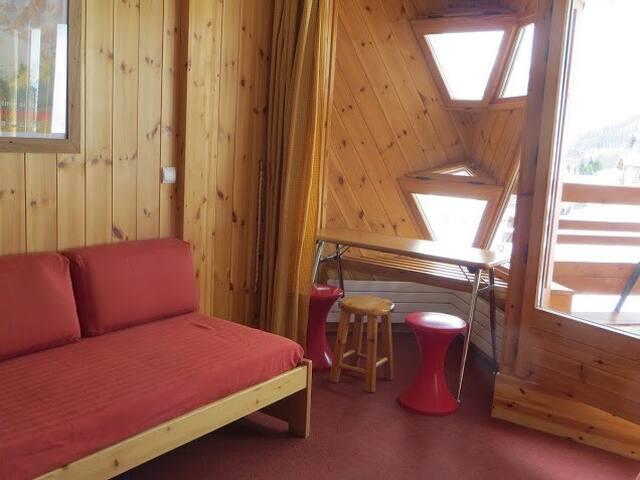 Appartement cosy au pied des pistes