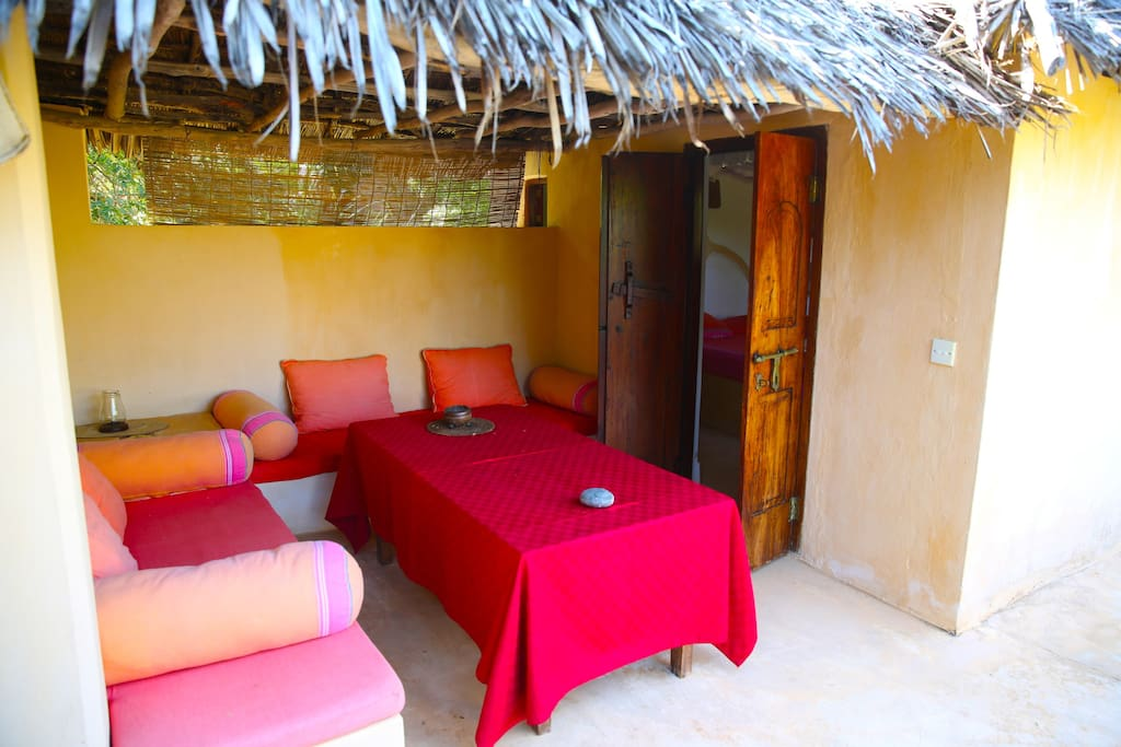 Sitting area and verandah for the Bamboo room.