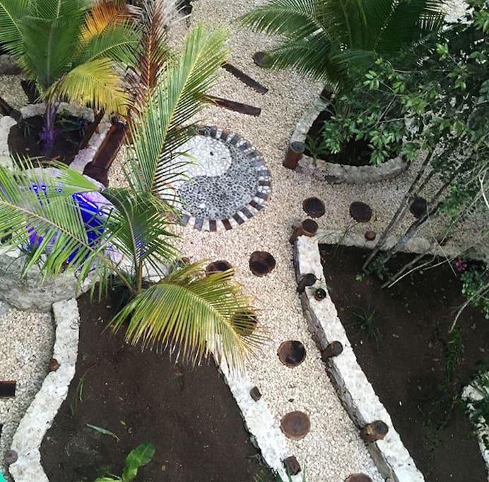 Vista del jardín desde la terraza