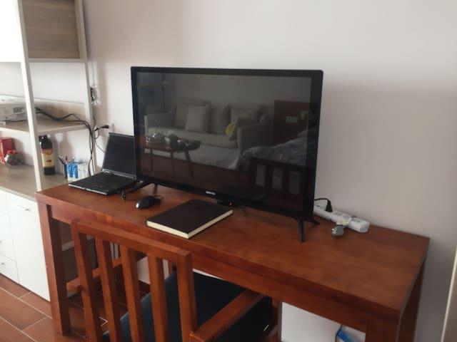 有线电视、wifi、电脑齐全