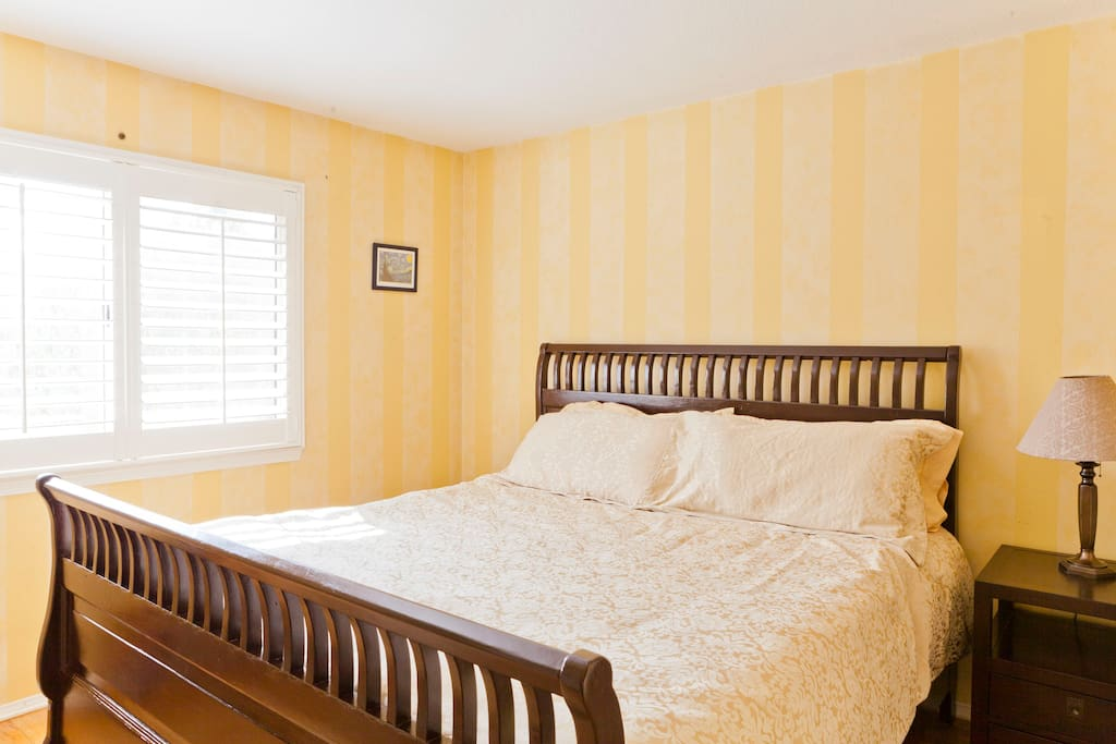 King Size Bed with memory foam top