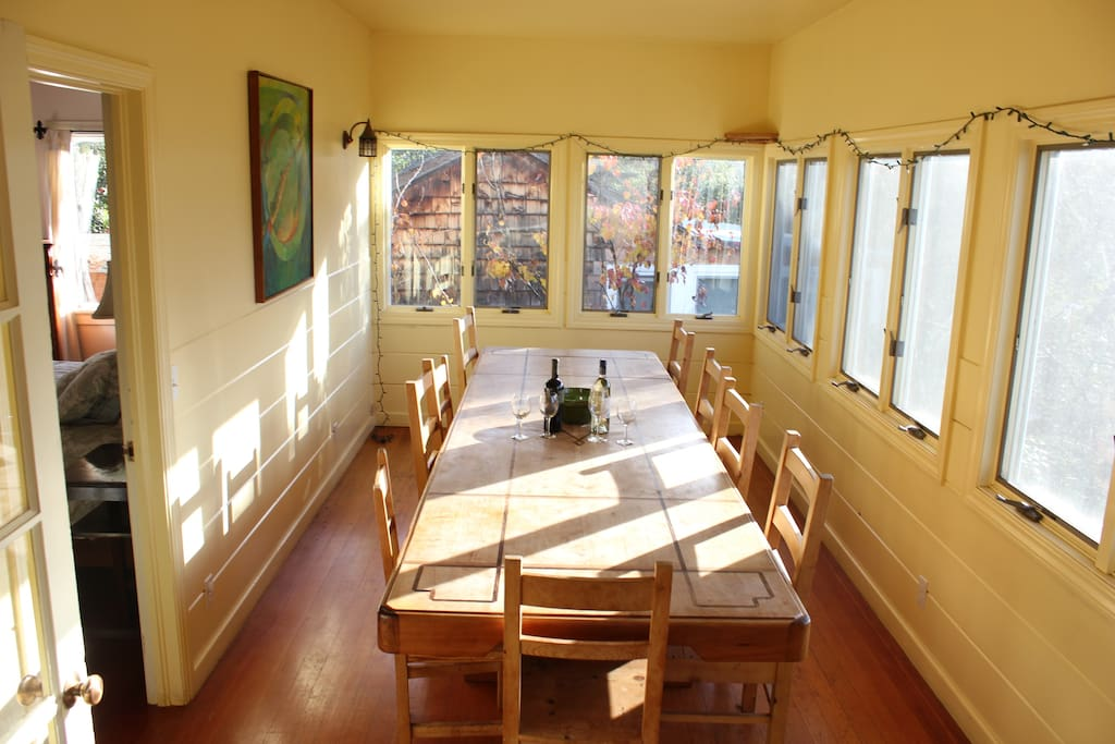 Light filled dining room for sharing meals and stories of the day