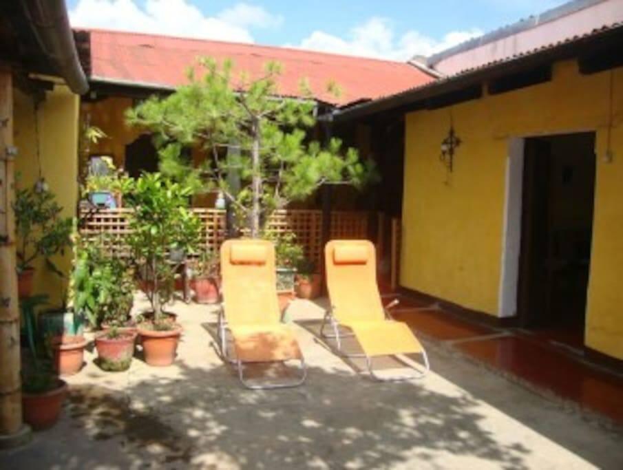 Interior Courtyard in Antigua Home