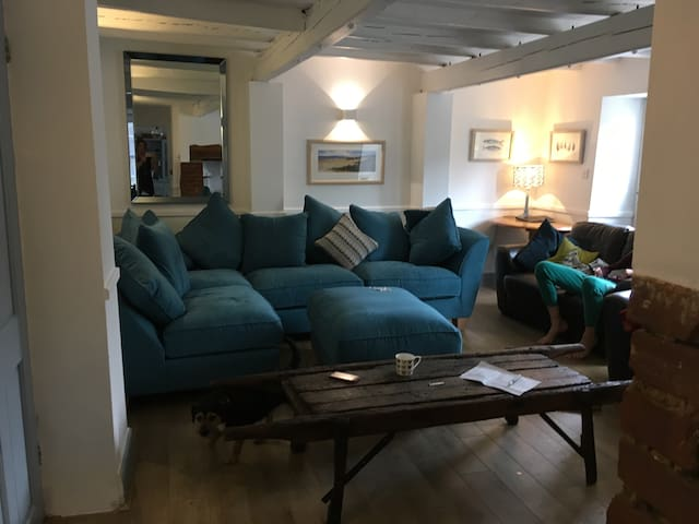 Lovely new comfy sofa, we have kept one of old leather sofas too .