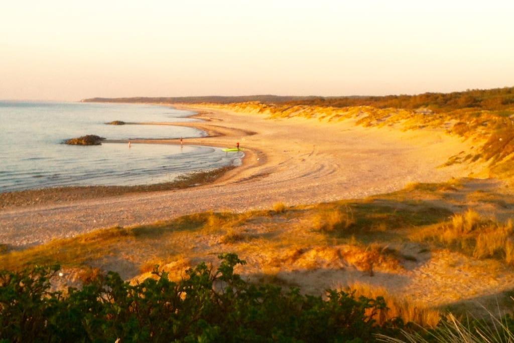 The beach closeby