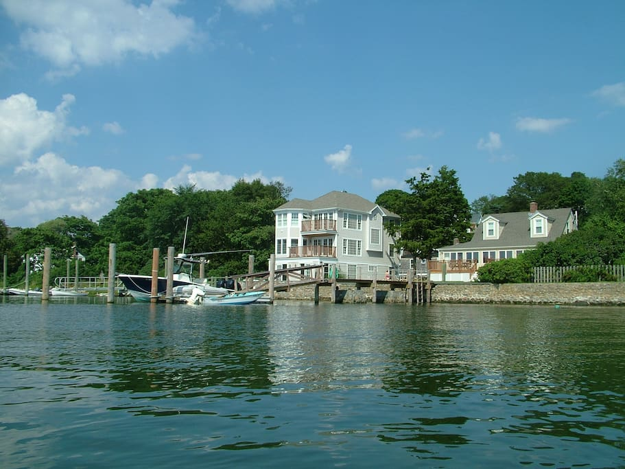 View from West Cove to the house