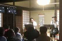 A concert at my parent's house nearby   in 2018.