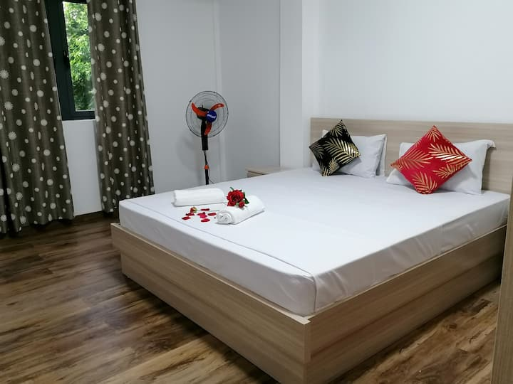 private apt with 2 beds king & Queen.