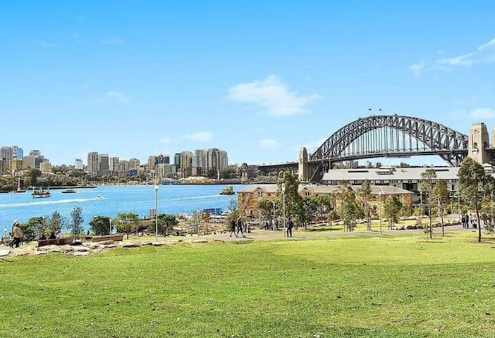 Have a nice morning run, or picnic at the Barangaroo Reserve - 5 minutes walk from the house