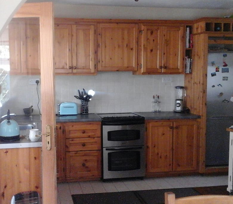Shared kitchen for use by guests