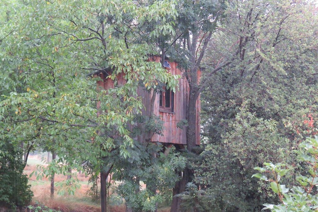 cabane dans les arbres en balcon sur serre pon on cabanes dans les arbres louer puy. Black Bedroom Furniture Sets. Home Design Ideas