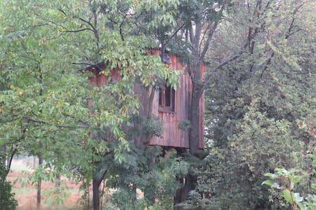 Cabane dans les arbres en balcon sur Serre-Ponçon - Puy-Sanières - Blockhütte