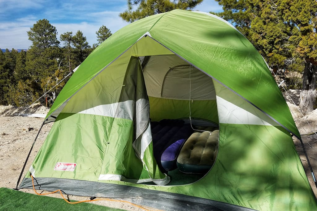 6 person tent with air mattress included