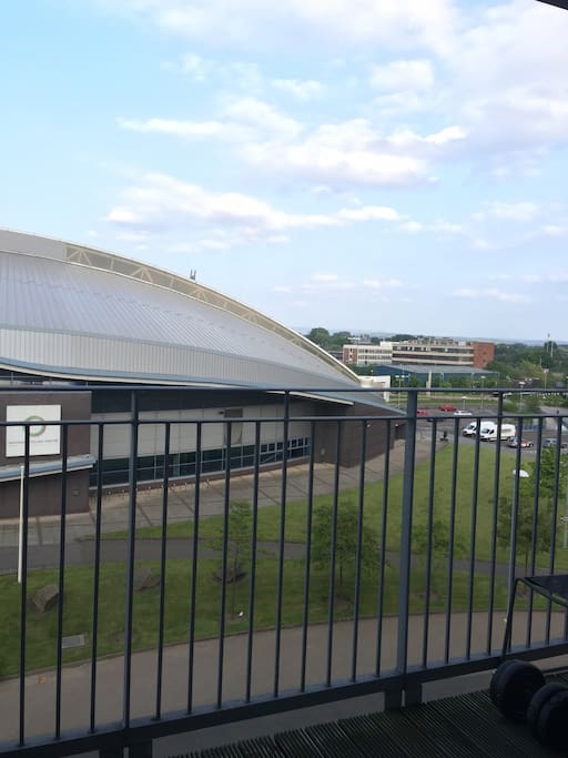 Velodrome/British Cycling Centre opposite to our flat!