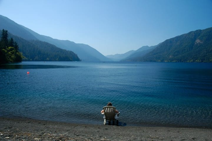 Cottage on Lake Crescent, Olympic National Park