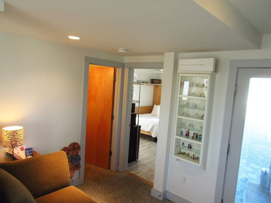 Walk in front door to a sitting area. Your room and bath is right here with Ocean view