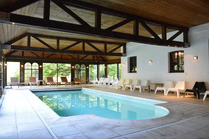 Luxurious relaxation house in the center of Spa with large garden, indoor pool