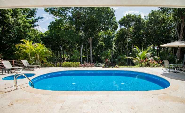 Beautiful Villa in jungle facing golf course