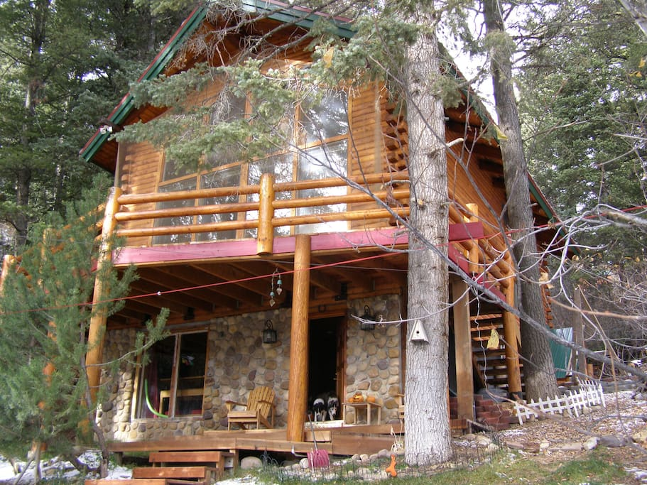 park city tree secluded log cabin chalet in affitto a