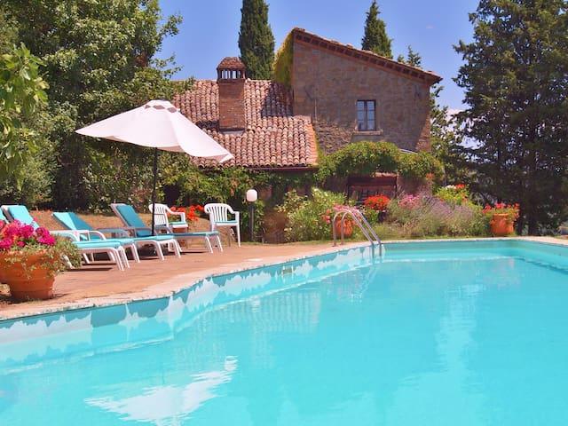 Far reaching views, tranquil setting, private pool