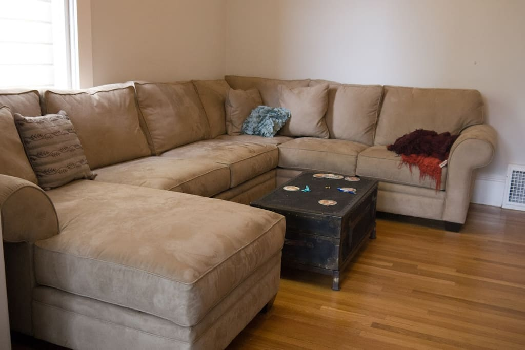 Second living room couch.