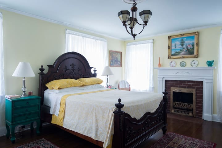 Historic District/Bright Queen room/extra bed - Gastonia - Haus
