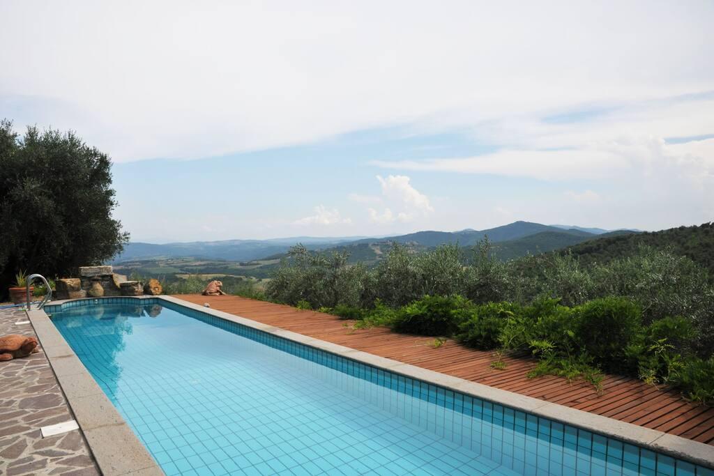 la piscina ed il panorama