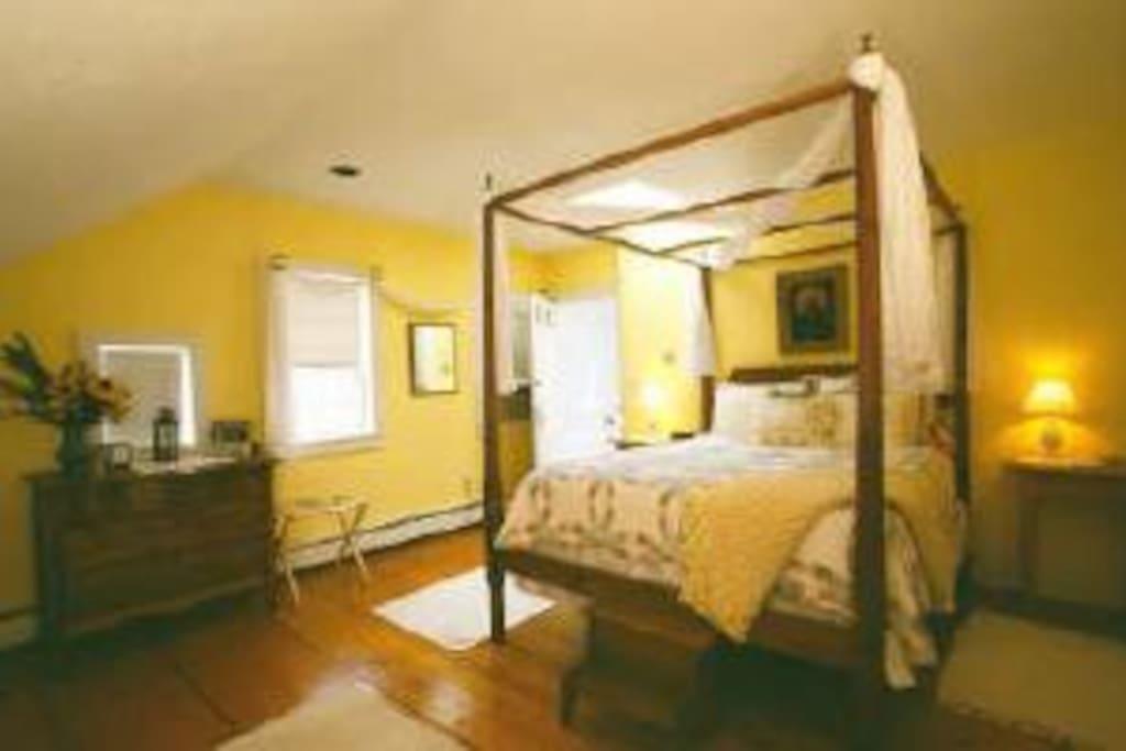 The Shaker Room, great for honeymooners!