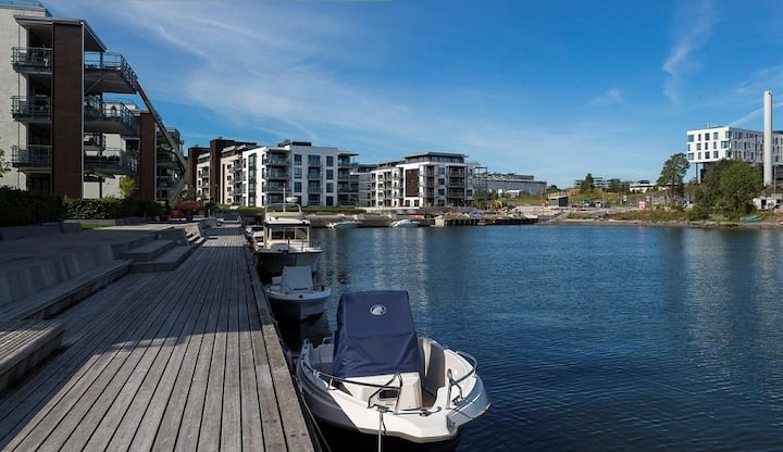New and light apt, 20min to Oslo, close to the sea