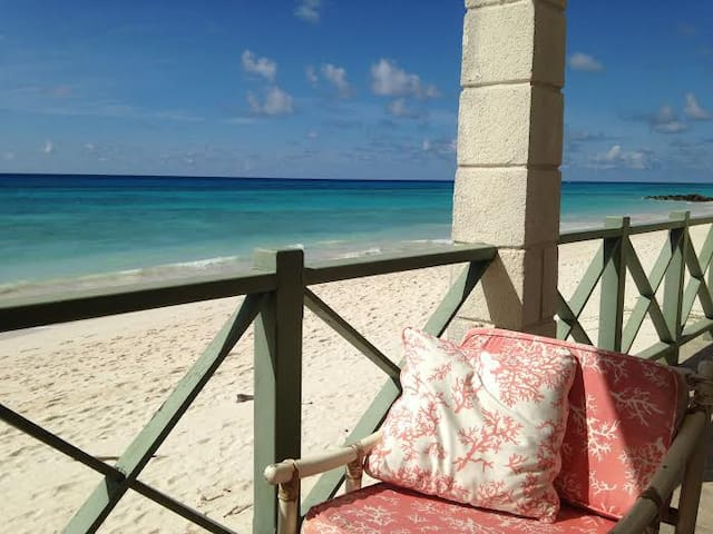 The house, it really is on the beach!!