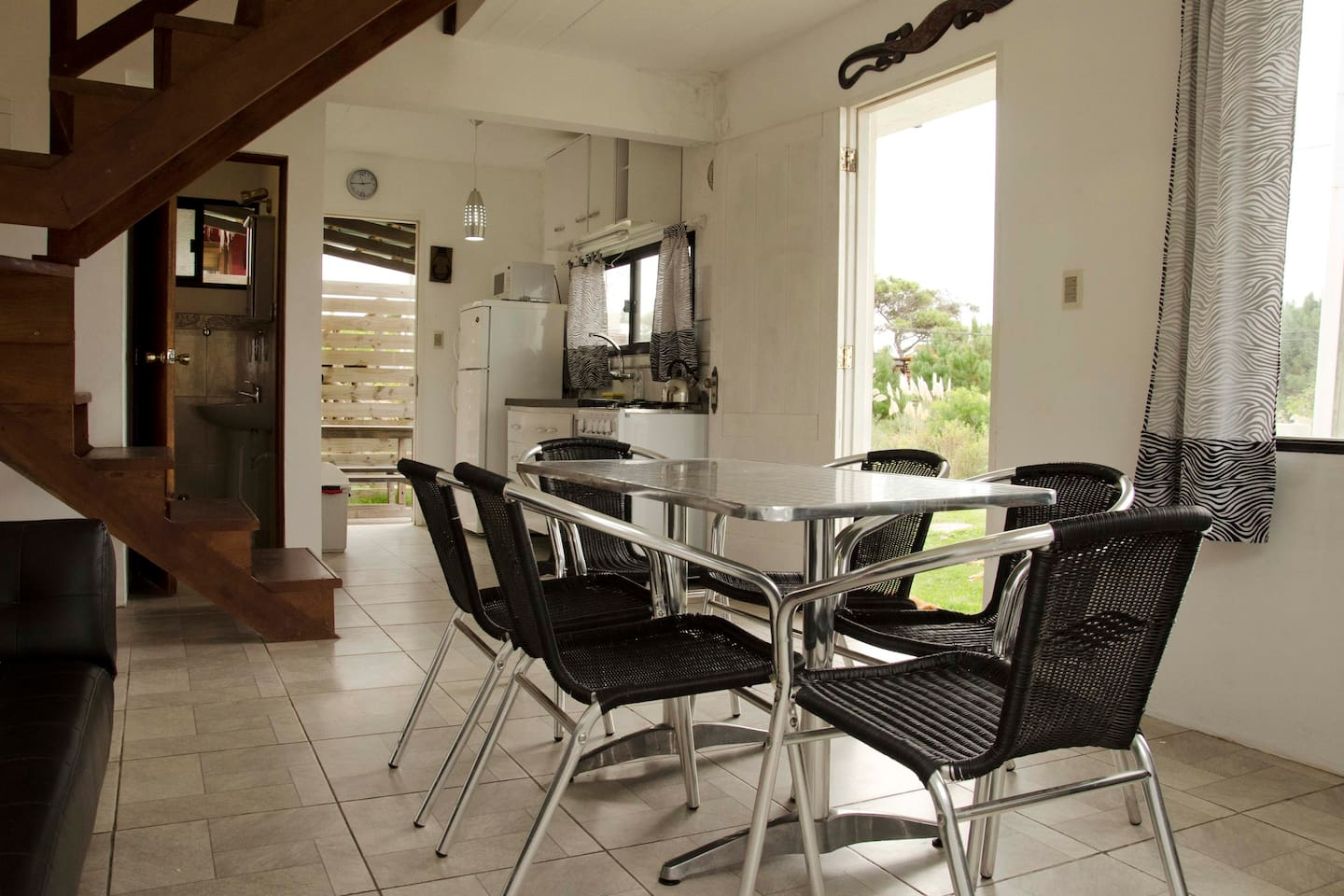 Dining area with room for six.