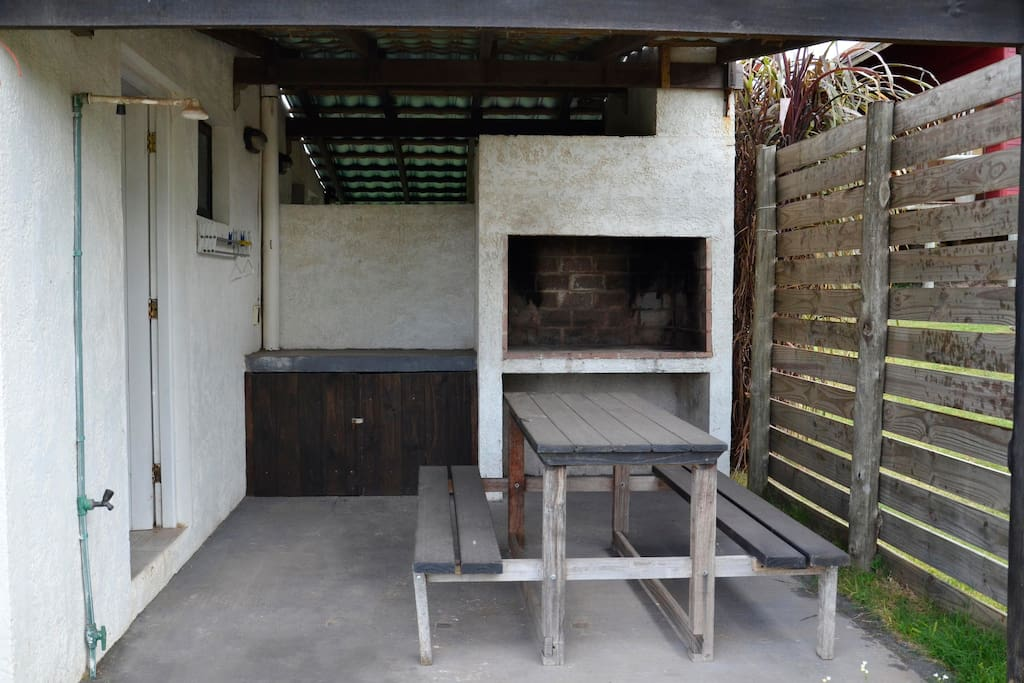 Outdoor barbecue area.